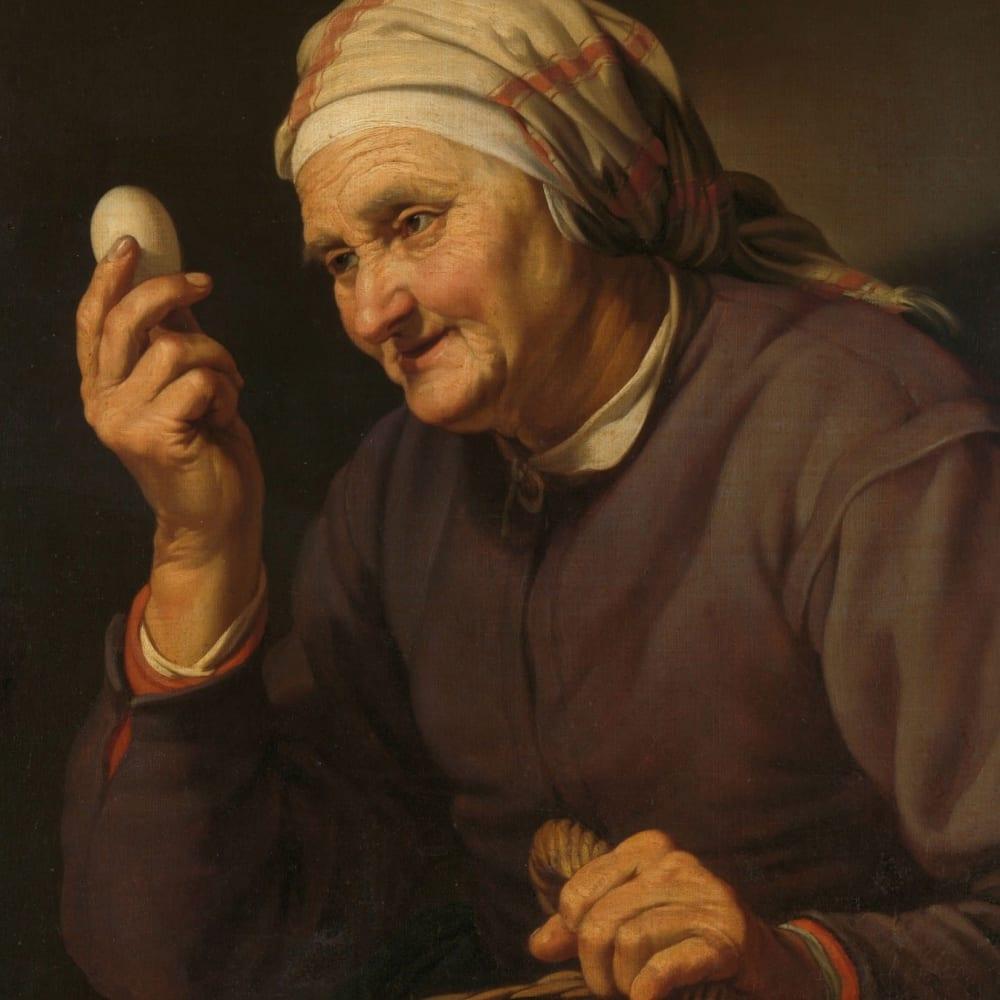 De eierenkoopvrouw - Hendrick Bloemaert