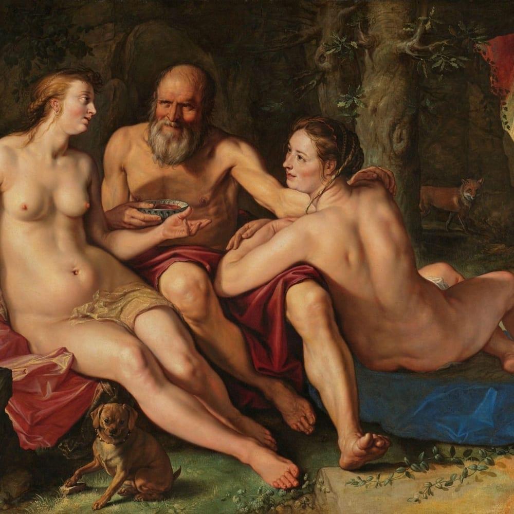 Lot en zijn dochters - Hendrick Goltzius