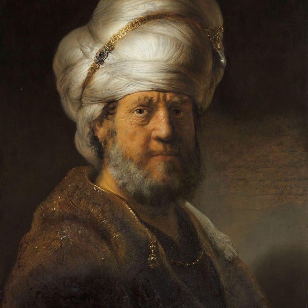 Man in oosterse kleding - Rembrandt van Rijn