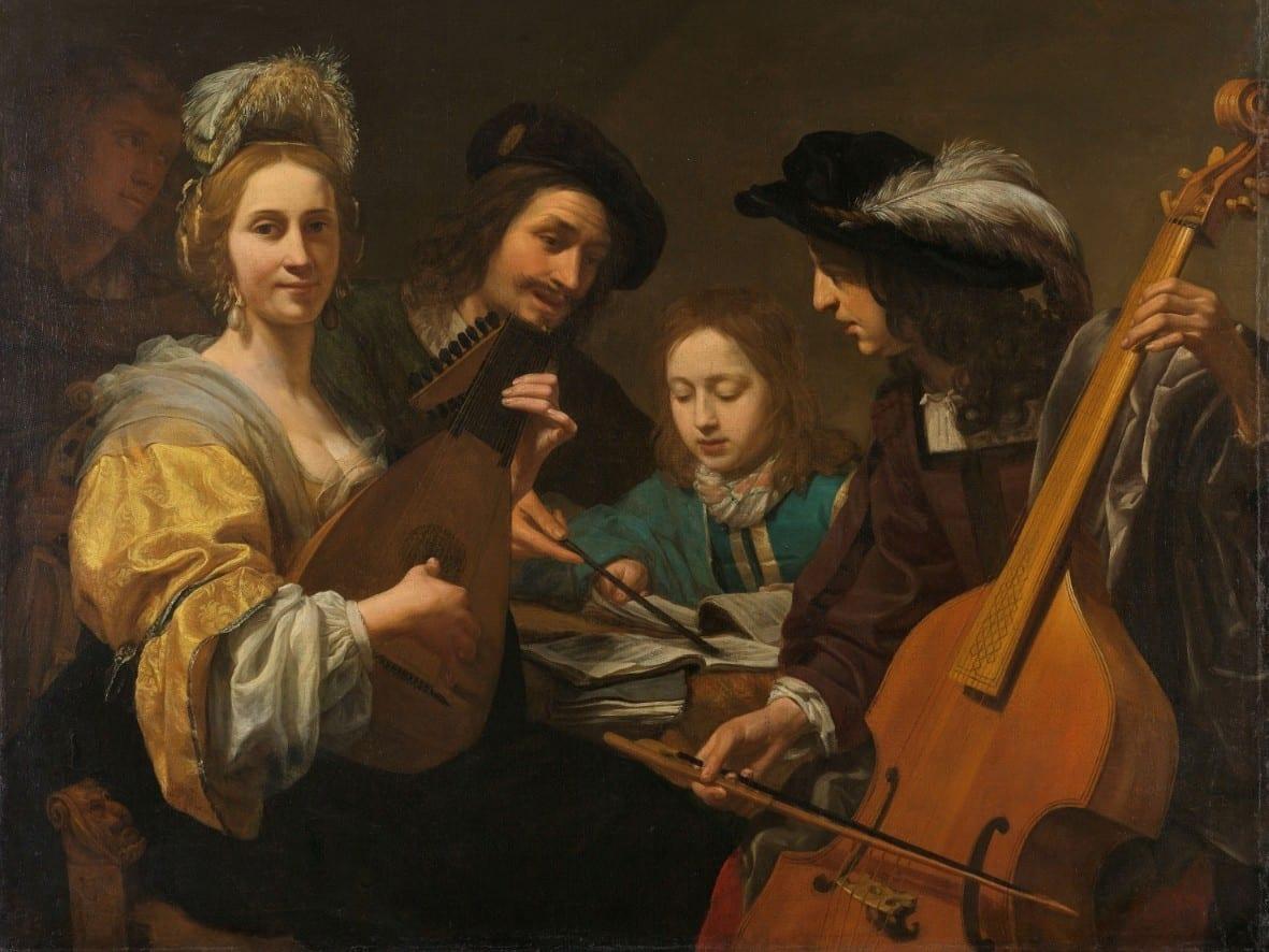 Musicerend gezelschap - Gerard van Kuijl