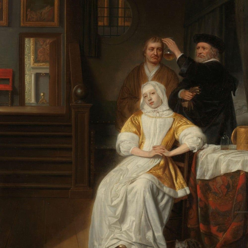 De bleekzuchtige dame - Samuel van Hoogstraten