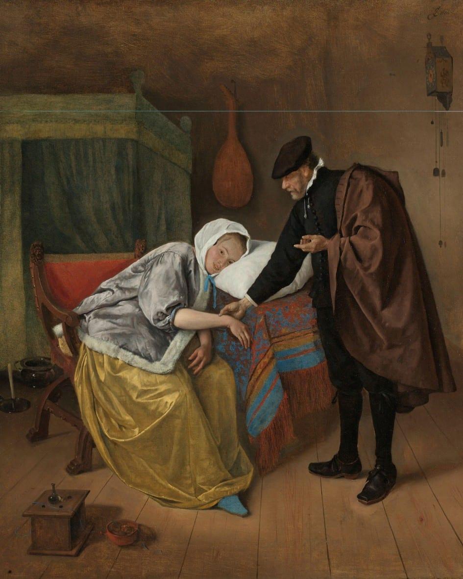 De zieke vrouw - Jan Havicksz