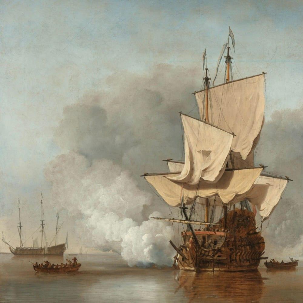 Het kanonschot - Willem van de Velde (II)