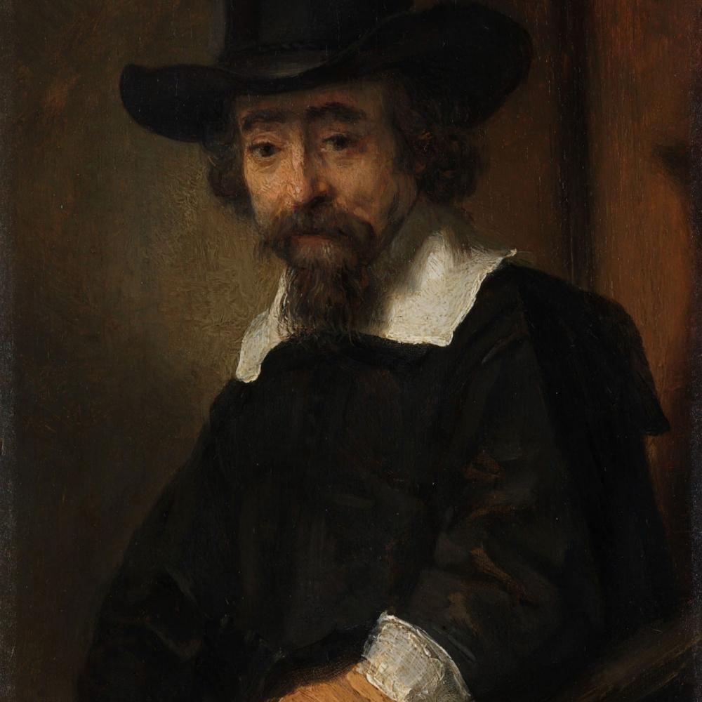 Portret van Dr Ephraïm Bueno - Rembrandt van Rijn