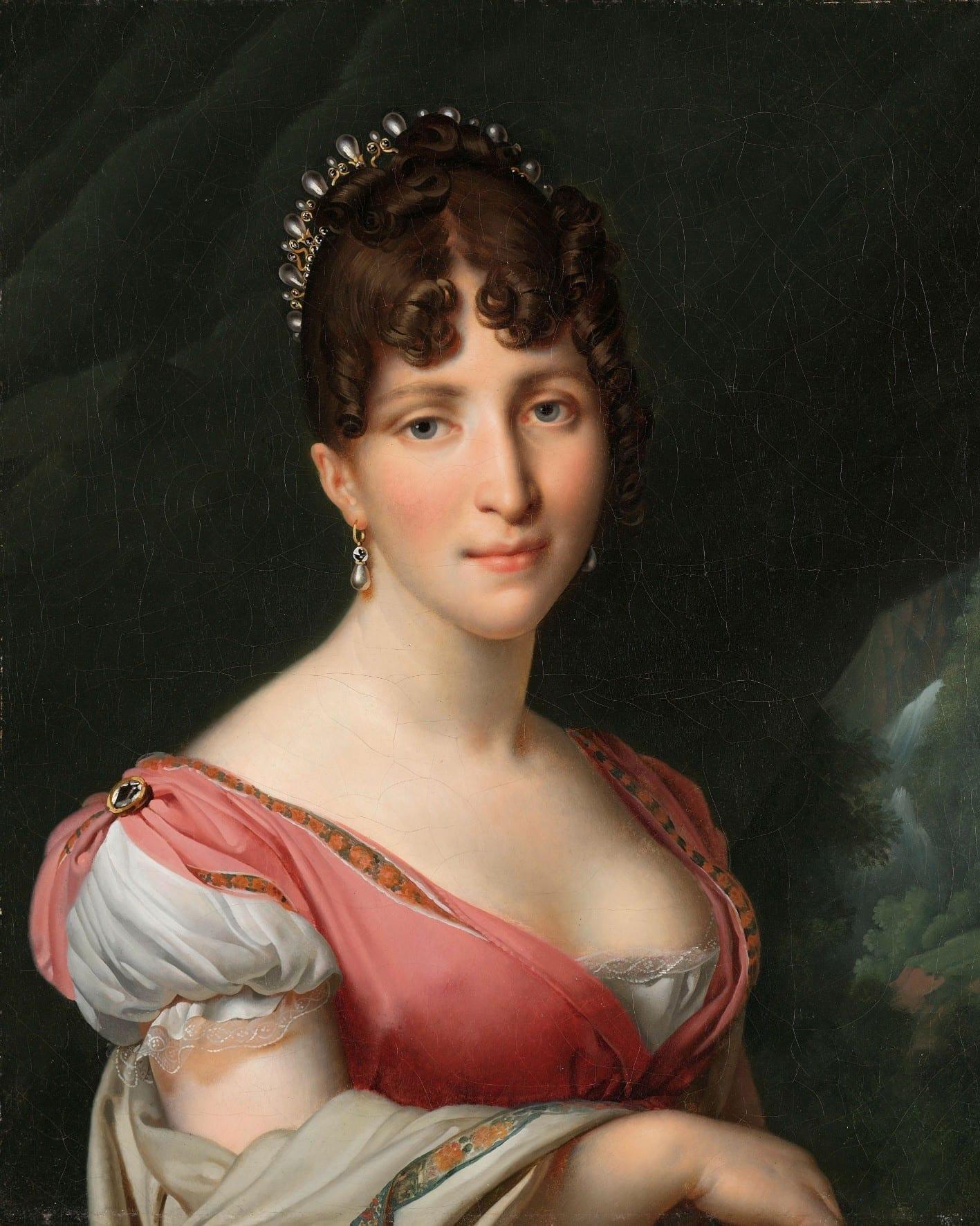 Portret van Hortense de Beauharnais, koningin van Holland - Anne-Louis Girodet-Trioson