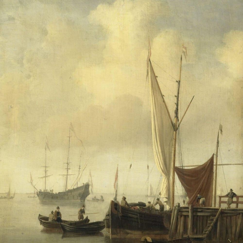 Havengezicht - Willem van de Velde (II)