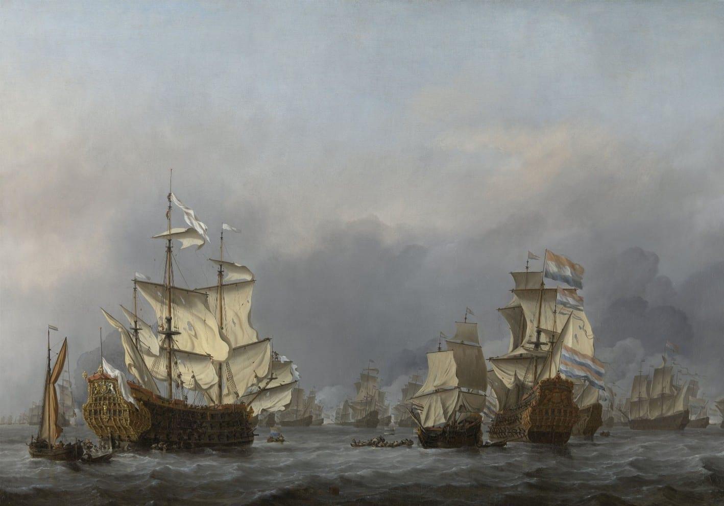 De overgave van de Royal Prince - Willem van de Velde (II)