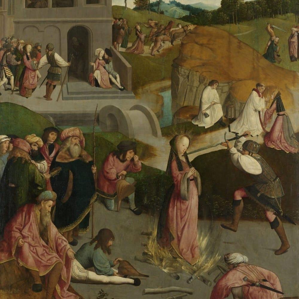 Het martelaarschap van Sint-Lucia - Meester van de Kruisafneming van Figdor
