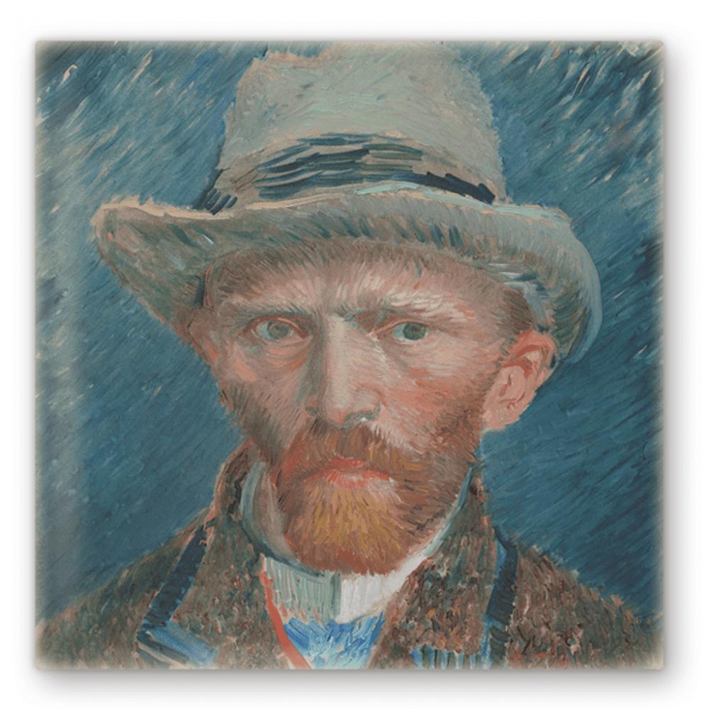 Tegel sublimatie print Zelfportret – Vincent van Gogh