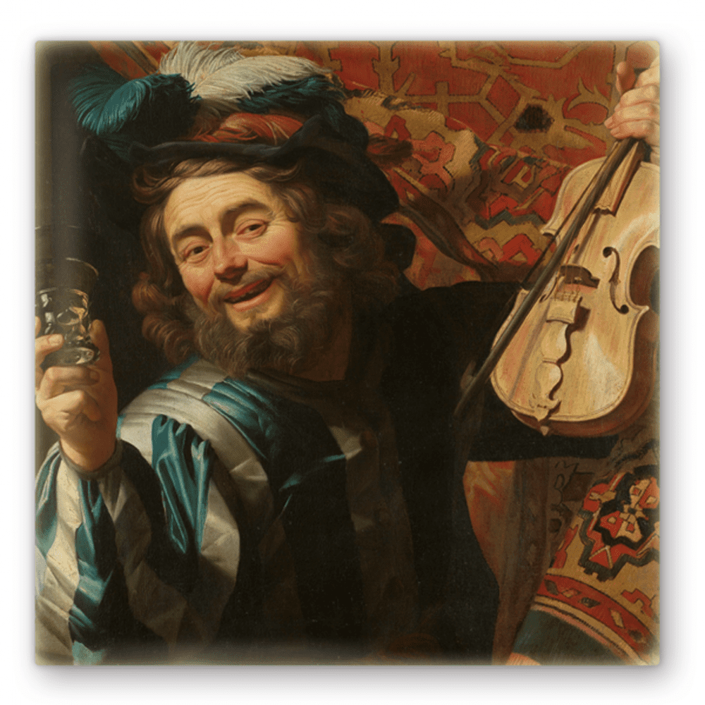 Een vrolijke vioolspeler – Gerard van Honthorst